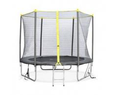 Alice s garden Springbok - Cama elastica Gris, trampolin para niños, 245cm, estructura reforzada