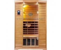 Sauna Infrarrojos 2 personas LUJO NanoCarbono y madera de Hemlock de Canada