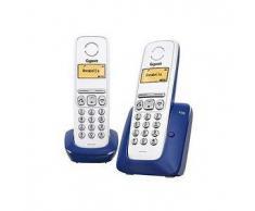 Siemens Gigaset A230 DUO azul/blanco Gigaset Gigaset A230 DUO azul/blanco Teléfono Inalámbrico - Manos libres - Agenda 80 registros - Id. de llamada - Autonomía: 18