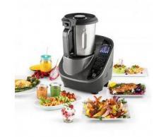 Klarstein Food Circus Robot de cocina Olla al vapor 10 programas 500/1100 W gris