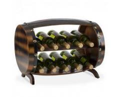 Klarstein Barrica Botellero de madera estantería para vinos de 10 botellas madera de pino