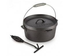 Klarstein Hotrod 45 Olla de hierro Olla de BBQ 4,5 qt / 4 L Hierro fundido negro