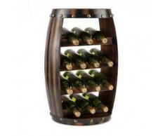 Klarstein Barrica Botellero de madera estantería para vinos de 14 botellas madera de pino