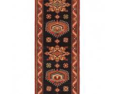 Brink & Campman Alfombra de pasillo de lana Emir Negro 70x350 cm