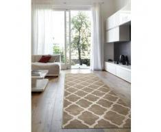 Benuta Alfombra de pasillo Lotus Beige 80x290 cm