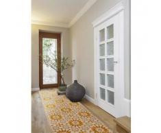 Benuta Alfombra de pasillo Gazania Amarillo 80x240 cm