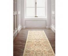 Benuta Alfombra de pasillo oriental Heritage Crema 66x240 cm