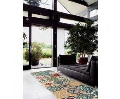 Benuta Alfombra de pasillo Patchwork-Mosaico Multicolor 80x240 cm
