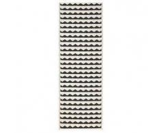 Brita Sweden Plástico Alfombra de pasillo tejido plano Gittan Negro 70x200 cm