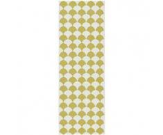Brita Sweden Plástico Alfombra de pasillo tejido plano Gerda Amarillo 70x250 cm