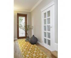 Benuta Alfombra de pasillo Anis Amarillo 80x240 cm