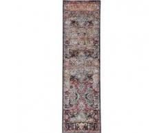 Benuta Alfombra de pasillo Cedar Multicolor/Rojo 70x240 cm