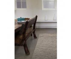Benuta Alfombra para exterior & interior Vora Blanco y Negro 80x150 cm