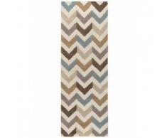 Benuta Alfombra de lana de pasillo Windsor Beige 80x240 cm