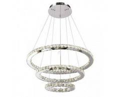 Lámpara de techo LED - cristal 3 anillos - Oslo