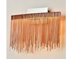 Aplique de LED decorativo color rosa cobre - Phoenix