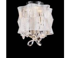 Elegante Lámpara de araña LED - Cristal y Cromo - Cassiopee