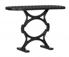 Mesa de hierro vintage con tachuelas