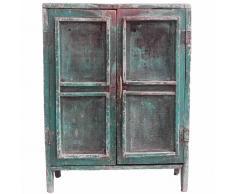 Armario vintage con puertas rejillas