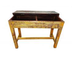 Mesa pupitre de madera amarillo