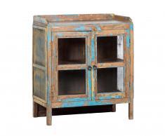 Armario bajo madera-azul