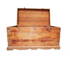 Baul antiguo de madera XL