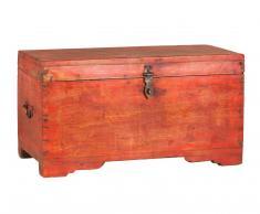 Baul rojo de madera XL