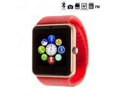 Tekkiwear by dam. Reloj digital con bluetooth GT08 rojo