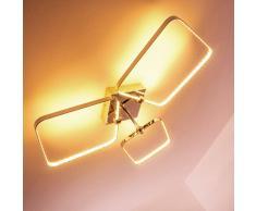 hofstein Sepino Lámpara de techo LED Cromo, 1 bombilla - 1100 Lumen - Diseño/vivienda Juvenil - Zona interior - 3000 Kelvin - Plazo de entrega: 2 o 4 días laborables .