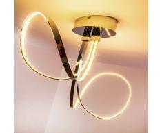 hofstein Sepino Lámpara de techo LED Cromo, 1 bombilla - 1600 Lumen - Diseño/vivienda Juvenil - Zona interior - 3000 Kelvin - Plazo de entrega: 2 o 4 días laborables .