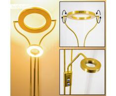 hofstein Donna Lámpara de pie LED Latón, 2 bombillas - - Diseño/vivienda Juvenil/Loft - Zona interior - 3000 Kelvin - Plazo de entrega: 2 o 4 días laborables .