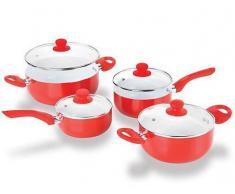 Bigbuy Batería de Cocina Ceramic Chef Pan (8 piezas) (4,64 kg)