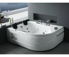 Bañera de hidromasaje rinconera ODYSSEA - 2 plazas - Ángulo derecho