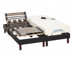Cama eléctrica con colchón de espuma viscoelástica JASON - 2x80x200 cm