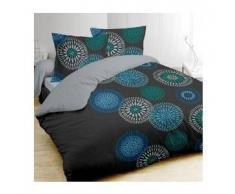 eminza Funda nórdica y dos fundas para almohada (260 cm) Ines Azul