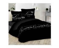 eminza Funda nórdica y dos fundas para almohada (240 cm) Love