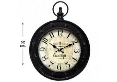 Reloj de pared metal Concierge