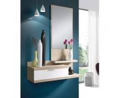 Mueble de recibidor Dahlia - Color - Blanco y madera