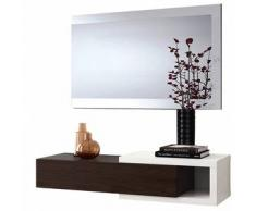 Mueble de recibidor con espejo Noon - Color - Blanco-café