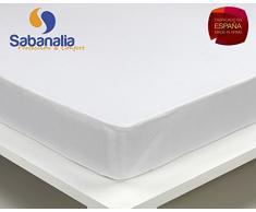 SABANALIA - Bajera algodón Impermeable y Transpirable (Disponible en Varias Medidas), Cama 180-180 x 200 + 31