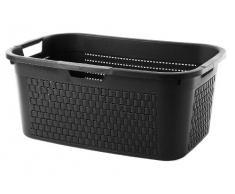 Rotho - Cesto para la colada (40 L), color negro