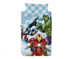 Marvel Avengers Strike Funda Nórdica de 3 Piezas para Cama 90, Cotton