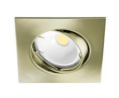 Wonderlamp W-E000015 Basic Basic - Foco empotrable cuadrado, color oro viejo [Clase de eficiencia energética A+]