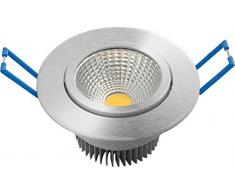 Garza Lighting - Foco Downlight LED empotrable COB direccionable, aluminio, luz cálida 3000K