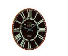 Idea hogar: Reloj de pared óvalo vidrio estilo Vintage Old Town
