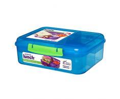 Sistema-Tartera Bento caja de almuerzo con frutas/yogur olla, colores surtidos, 1.65L
