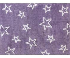 Aratextil Estrella Alfombra Infantil, Algodón, Lila, 120x160 cm