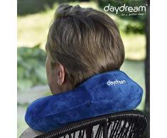 Daydream: Basic Plus (con reposacabezas) Almohada de Viaje de Memory Foam, Azul (N de 5360)