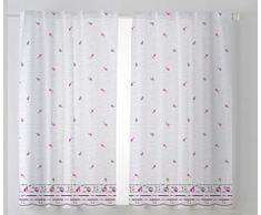 Cardenal Textil Mara Cortina Cocina Visillo, Tela, Morado, Pack 2 100 x 140 cm