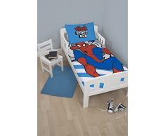 Spiderman Ultimate Junior juego de funda de edredón con funda de almohada para cama infantil de poliéster, Azul, Single